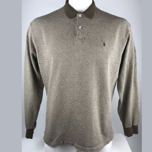 Polo by Ralph Lauren Shirts - Polo by Ralph Lauren Men's Brown Patterned Polo